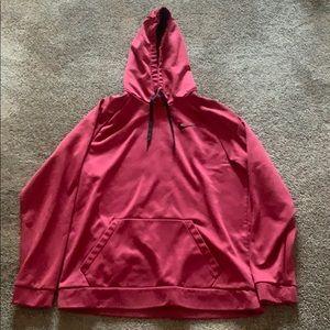 Men's burgundy Nike hoodie